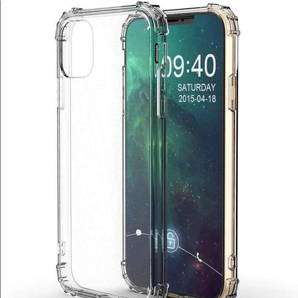 Anti-fall clear iPhone case.